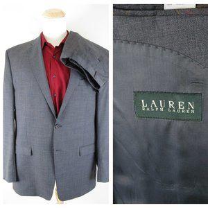 Lauren Ralph Lauren Gray Wool 2 Button Suit 46L